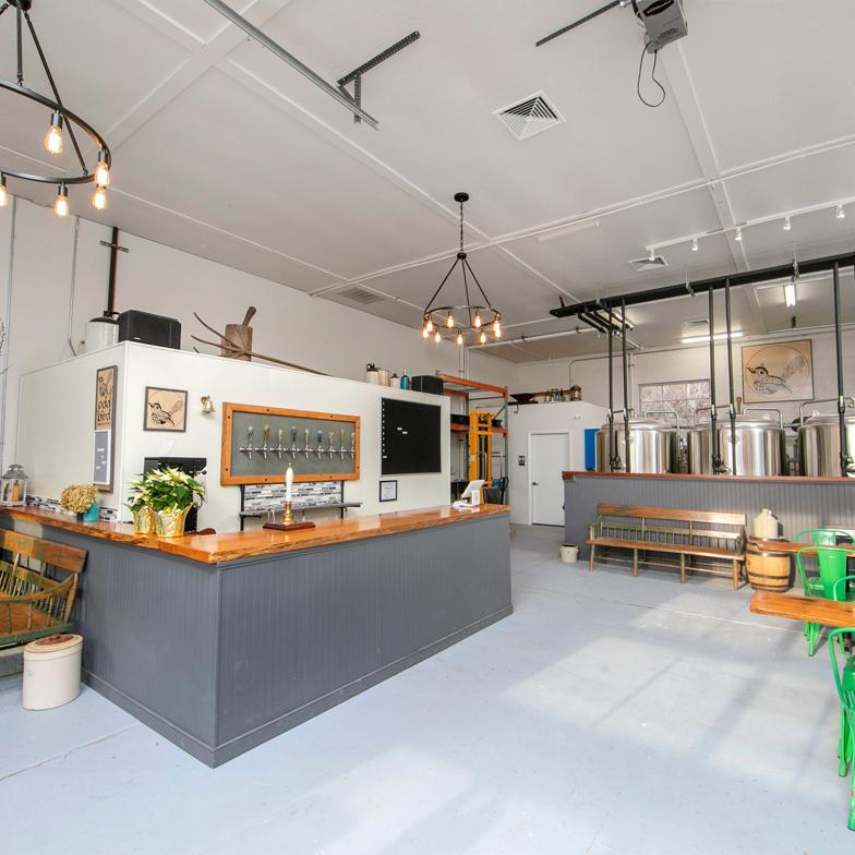 Odd Bird Brewery Interior Bar Stockton New Jersey