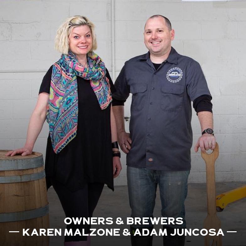 Odd Bird Brewery Owners Karen Malzone and Adam Juncosa